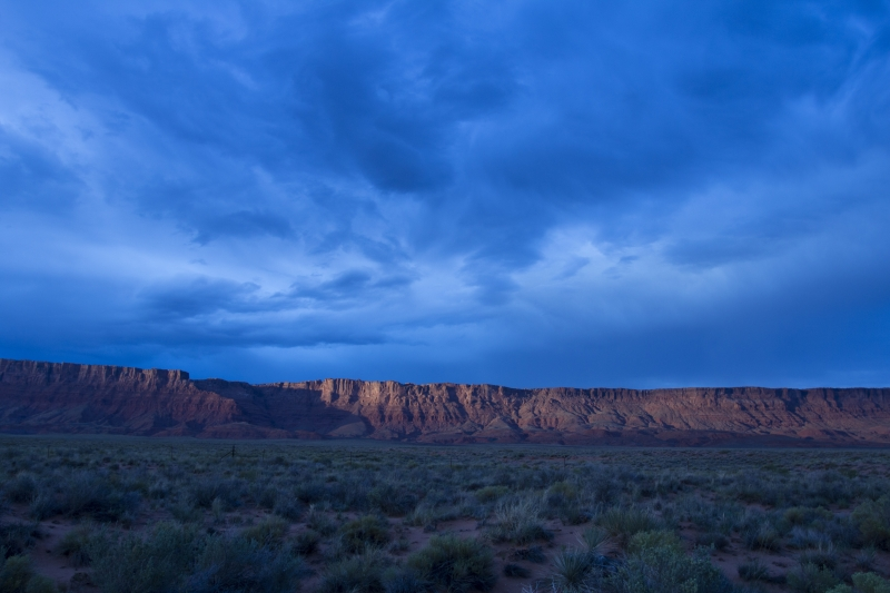 Vermillion Cliffs Under A Cloudy Sky