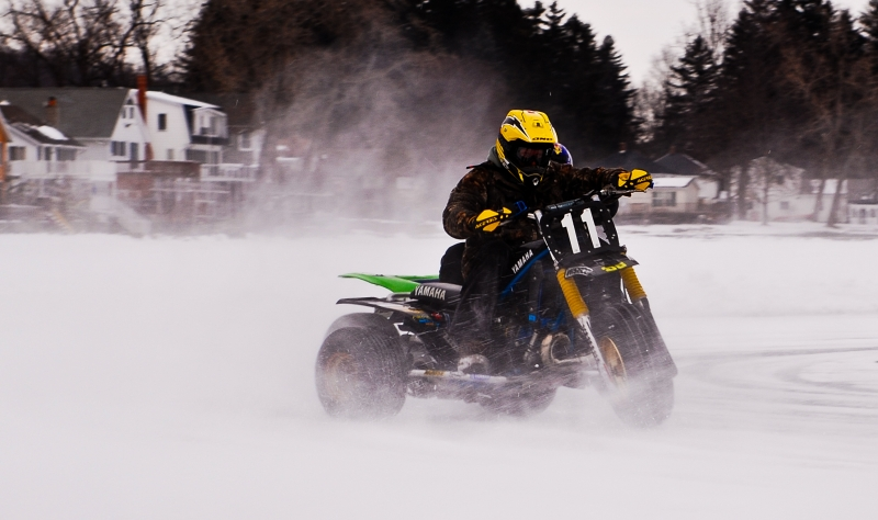 Raffa Racing At His House On The Ice