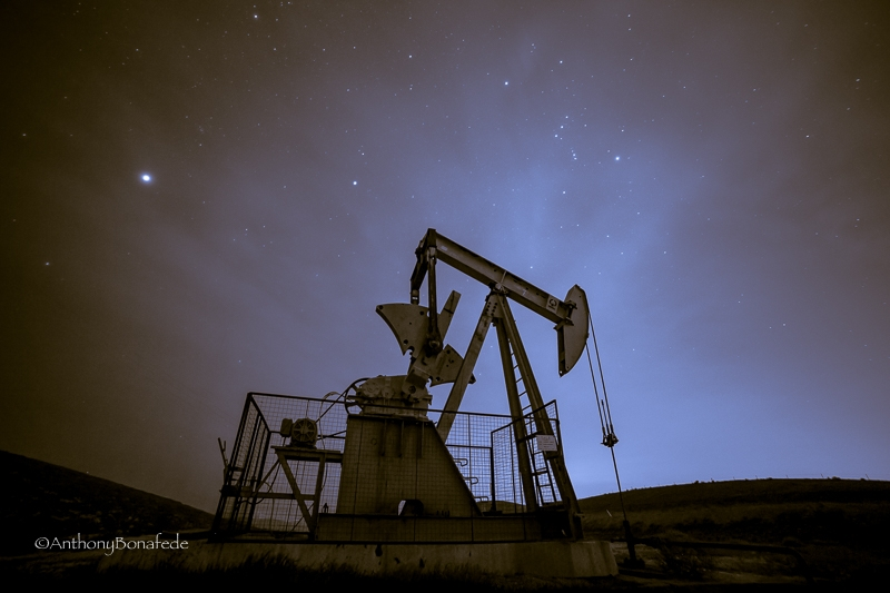 Oil Rig And Stars