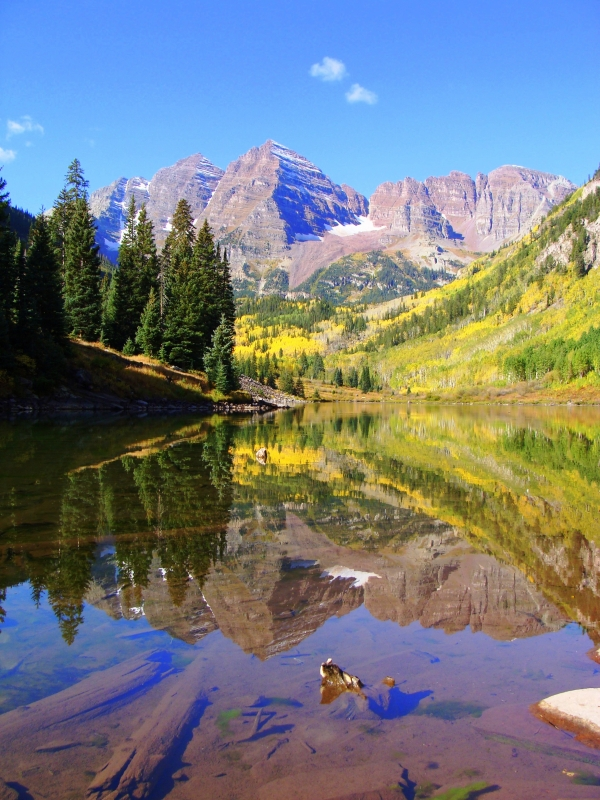 Maroon Bells-calm Waters
