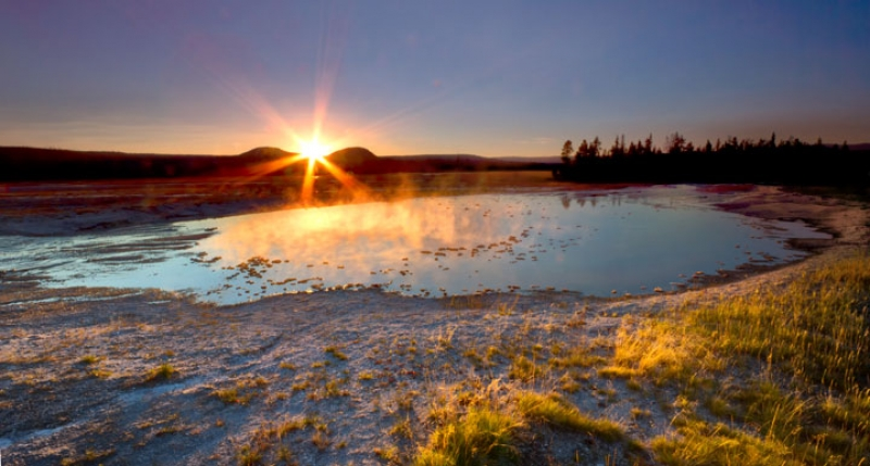 Sunstar Over Thermal Pool