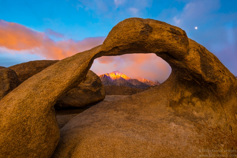 Through Arch –  Mountain And Moon
