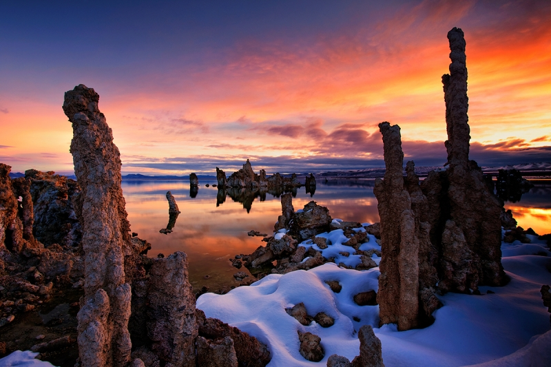 Mono Lake Tufas In Winter, California