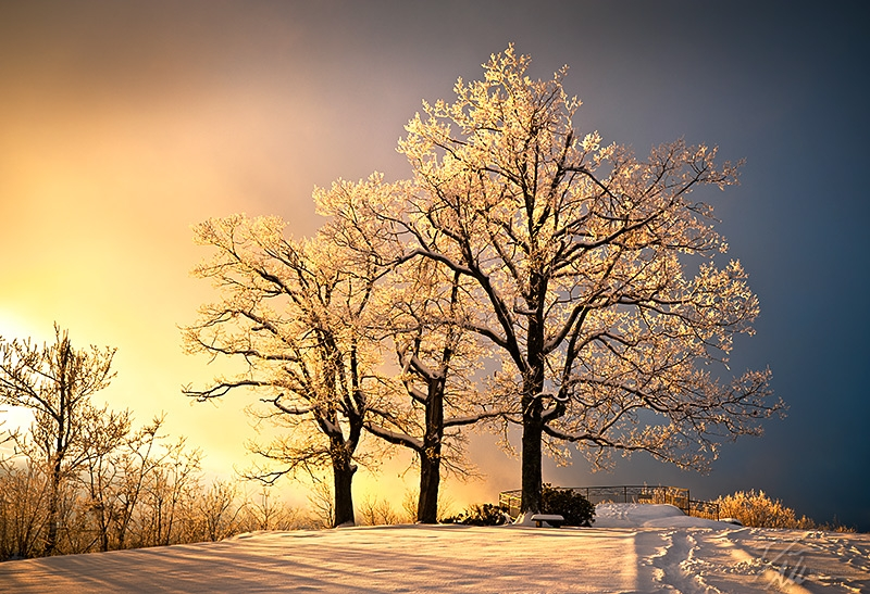 Luminous – Blue Ridge Winter Sunset