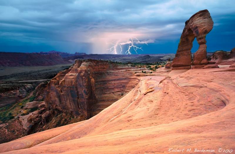Lightning Over Delicate Arch