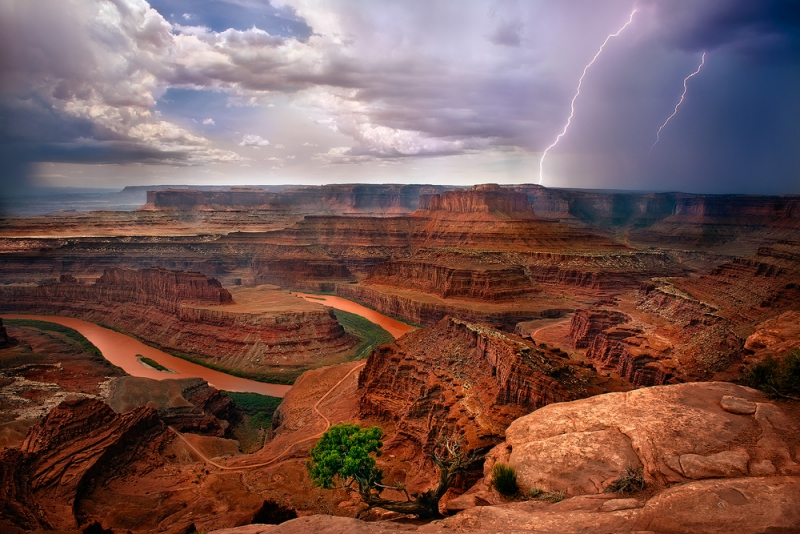 Dead Horse Point Lightning Strike
