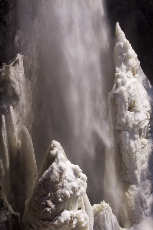 Ice Cone In Waterfalls