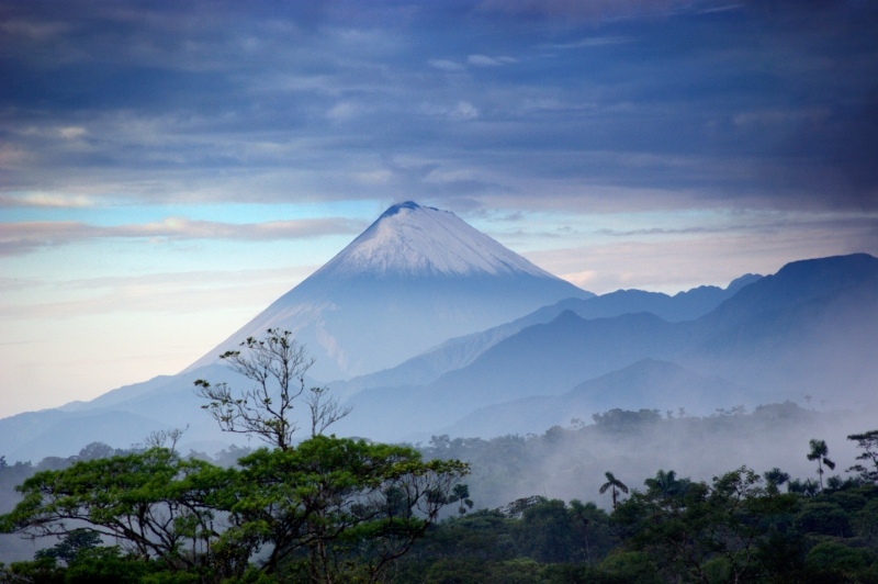 Sangay, A Volcano Raising From The Amazon Rainforest
