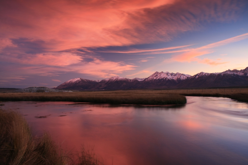 Sunset Over The Owens River