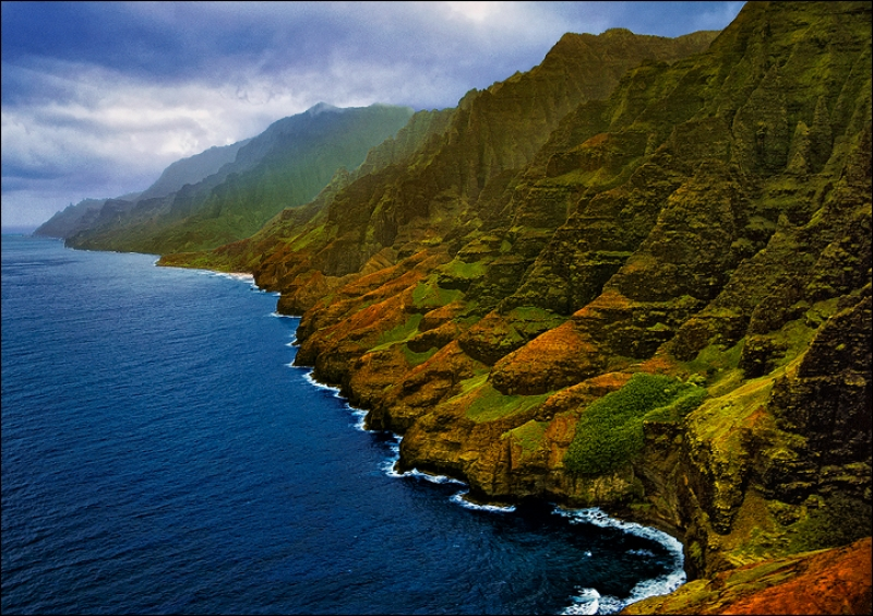 Napali Coast Kauai By Matt Anderson Near Kalalua Trail – Hike