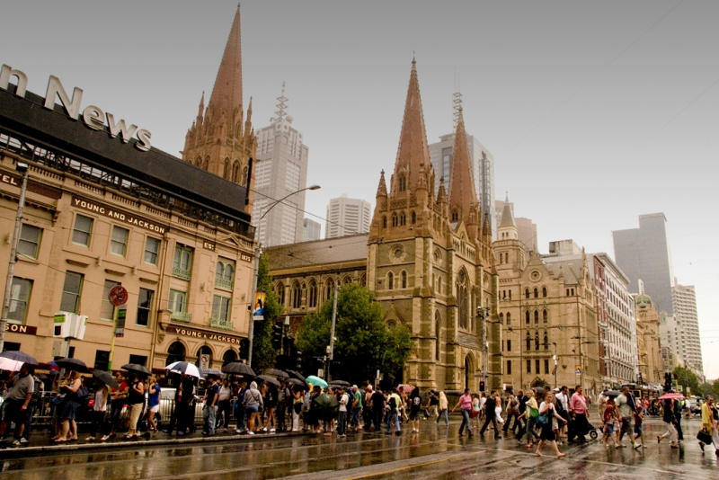 Melbourne In The Rain