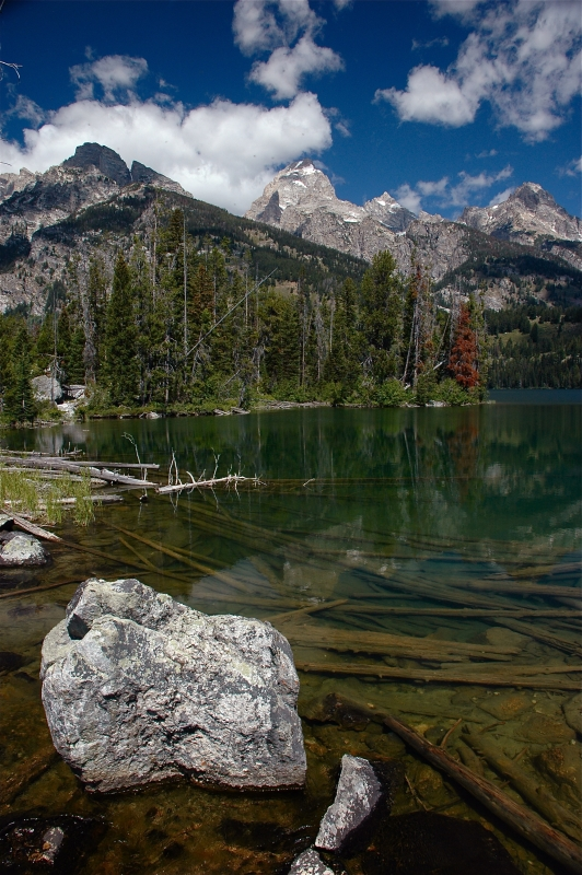 Taggart Lake – Tetons In Background