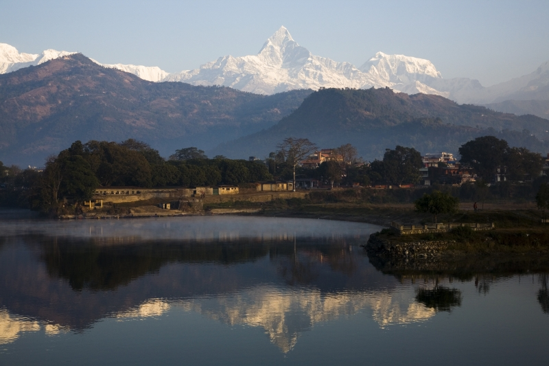 Fewa Lake And Annapurna Range