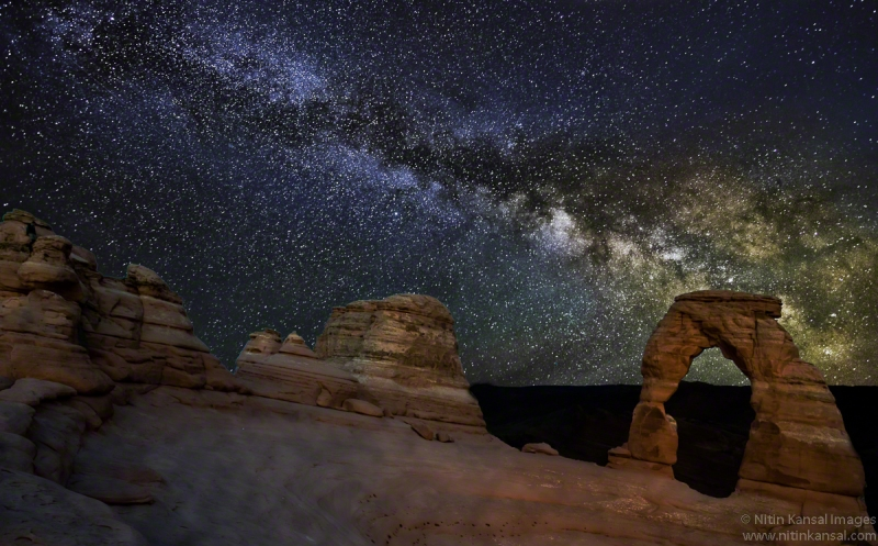 Delicate Arch Under Milky Way