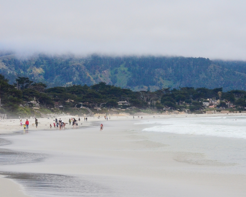 Carmel Beach With Low Clouds
