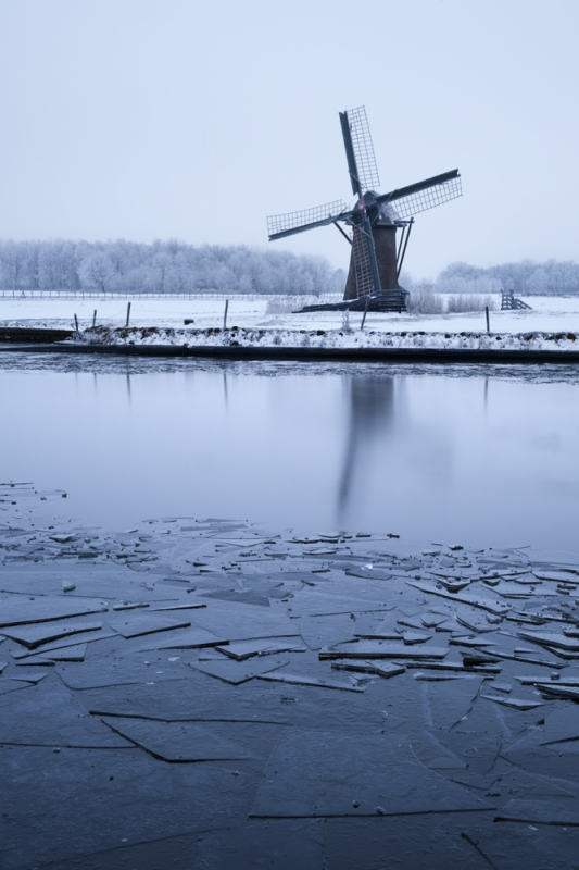 Knip Molen In Winter