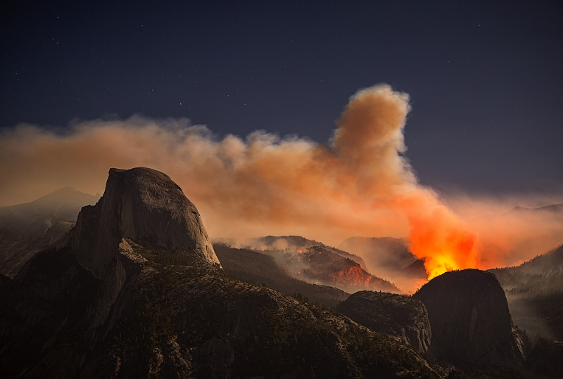 Fire In Yosemite National Park