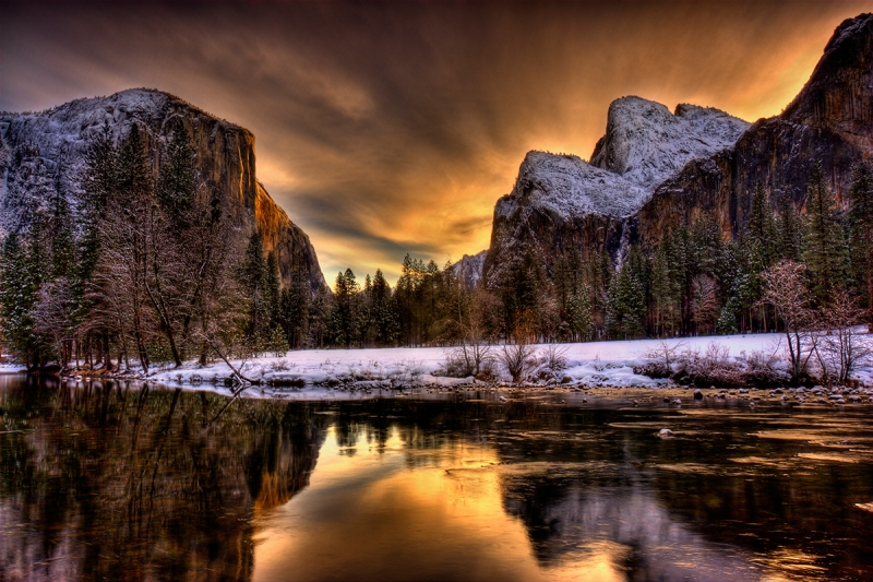 Winter Sunrise, Yosemite Valley, California