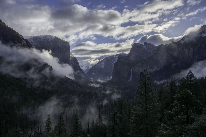 Yosemite Valley, Sunrise, Clearing Storm