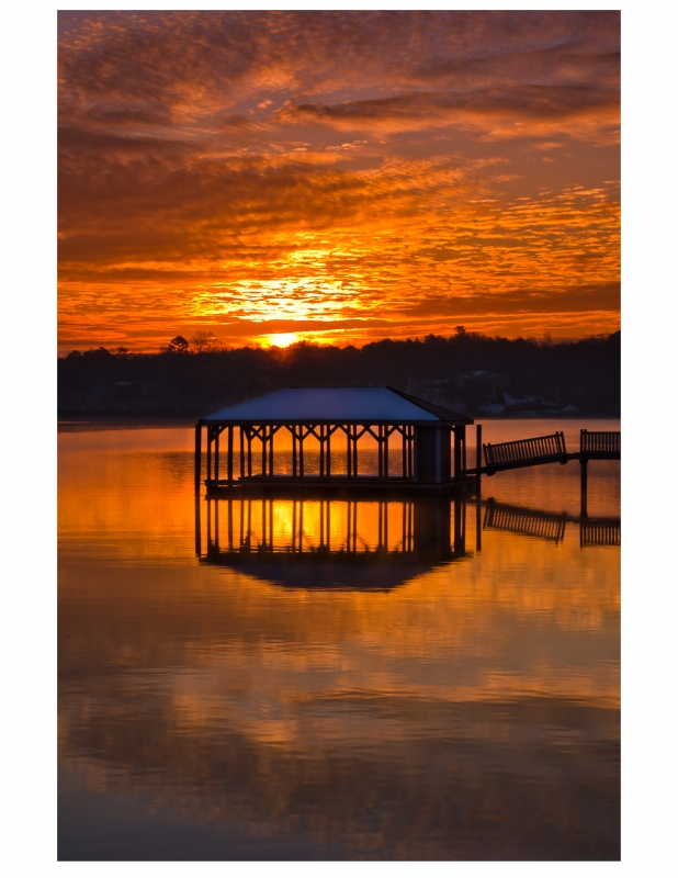 Sunrise Over Boat House