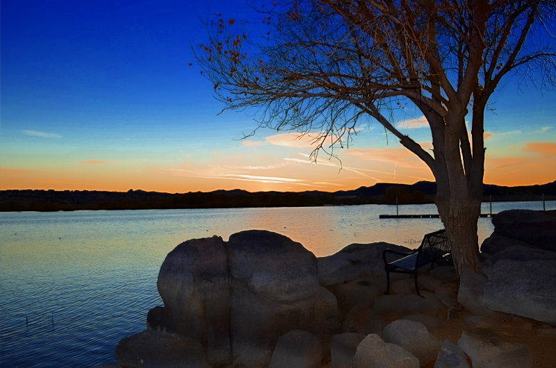 After The Sun Sets In Willow Lake