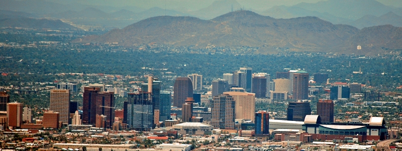Downtown Phoenix As Seen From The Summit Of South Mountain
