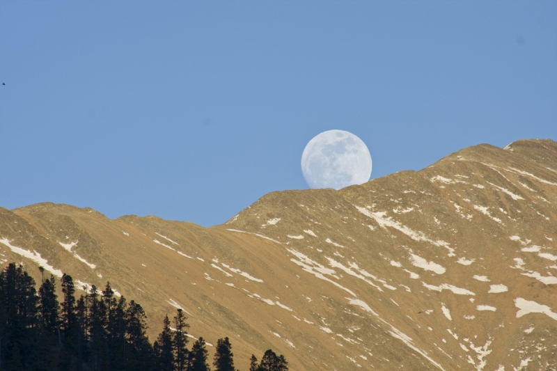 Super Moonrise Over Baldy Mountain