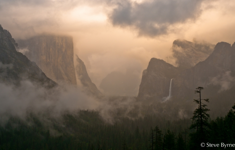 Yosemite Valley, Clearing Spring Storm.