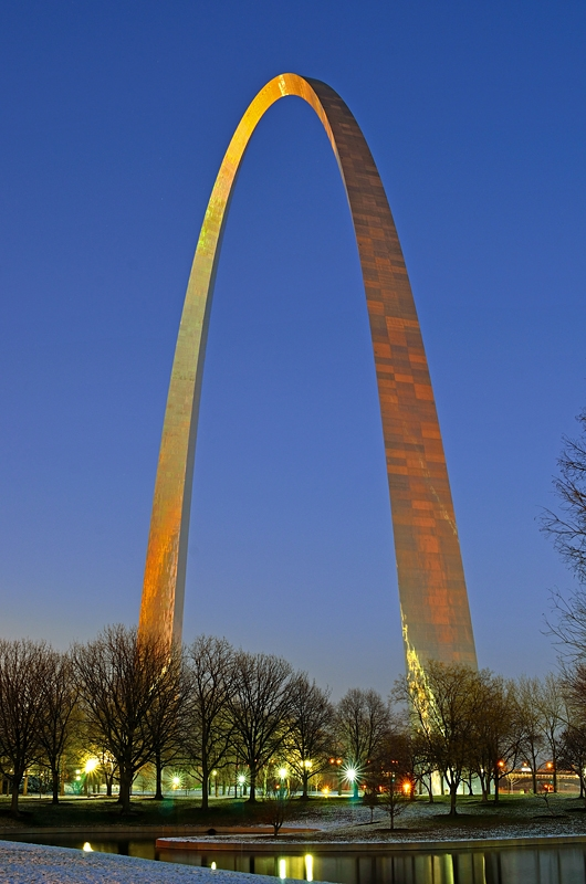 Arch In Winter