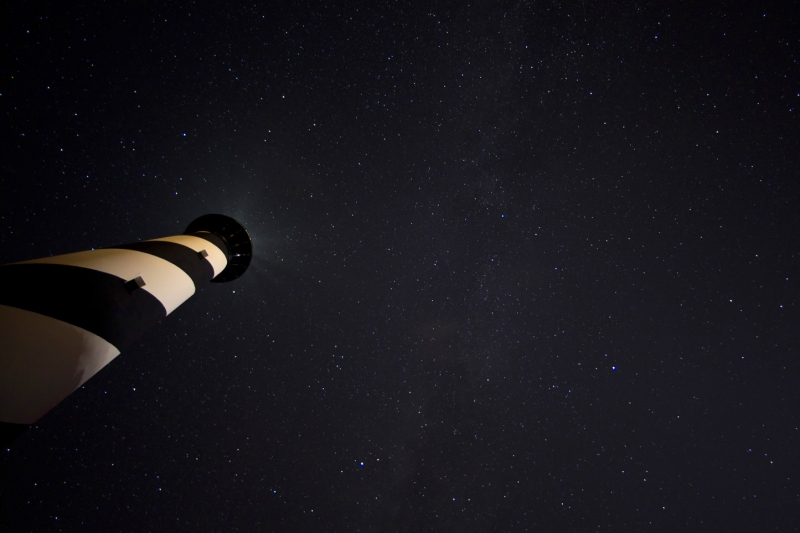Star Above The Cape Hatteras Lighthouse
