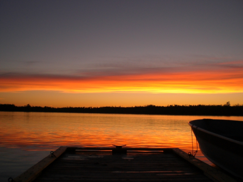 Sunset On Moose Lake