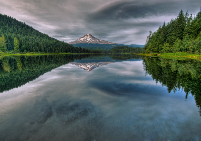 Mt Hood Reflection Trillium Lake