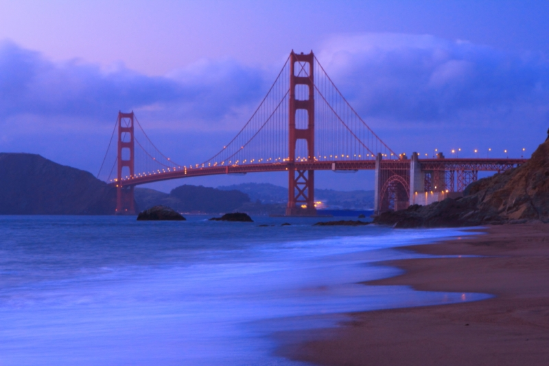 Blue Hour On The Golden Gate