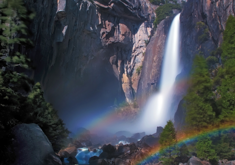 Moonbows At Yosemite