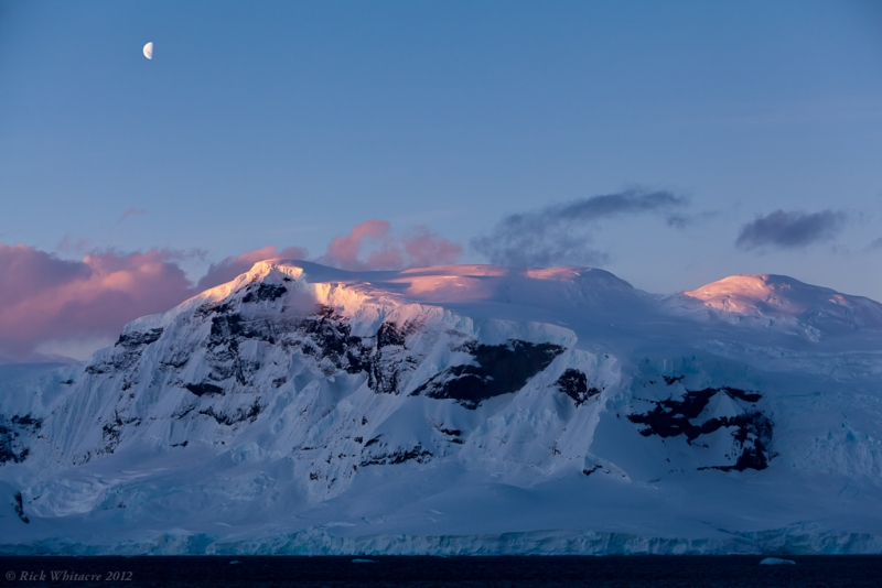 Moon At Sunset – Antarctic Peninsula