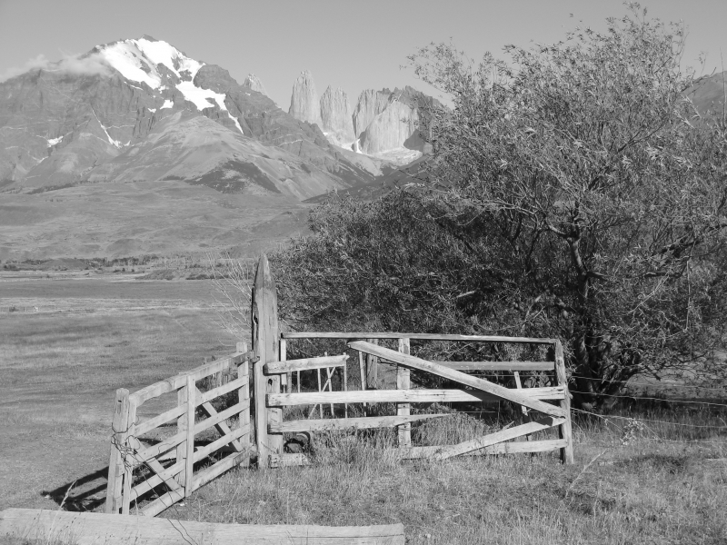 Backside Of Torres Del Paine National Park, Chile
