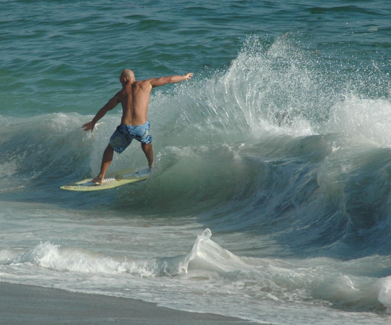 Form Of A Surfer