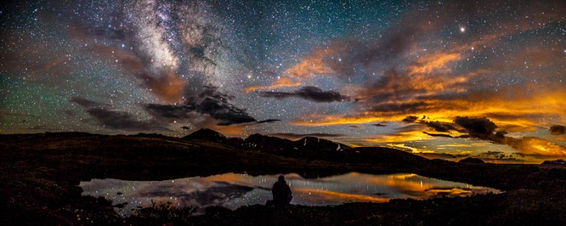 Moonset And The Milky Way From Independence Pass