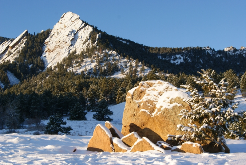 Flatirons Morning After Snow