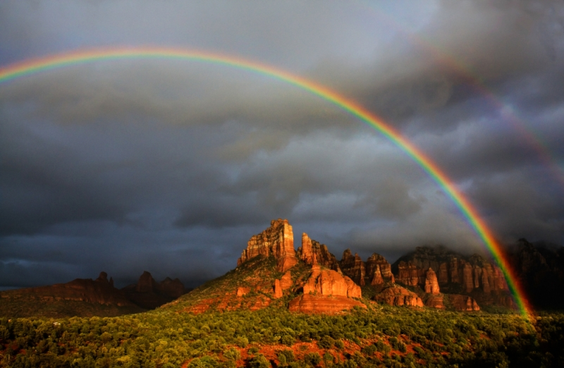 Rainbow In The Red Rocks
