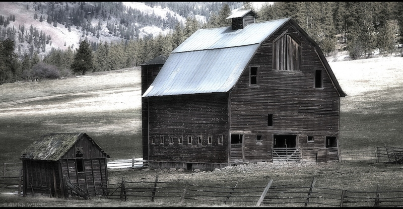 Old Barn Near Ellensburg, Wa, Usa
