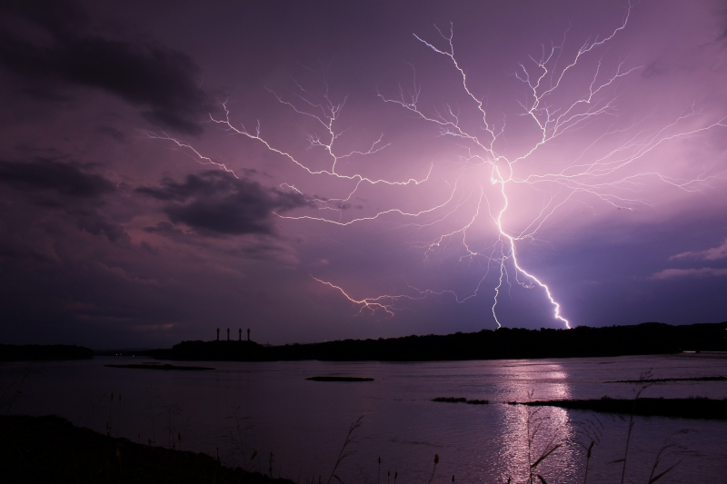 Lightning On The Susquehanna River