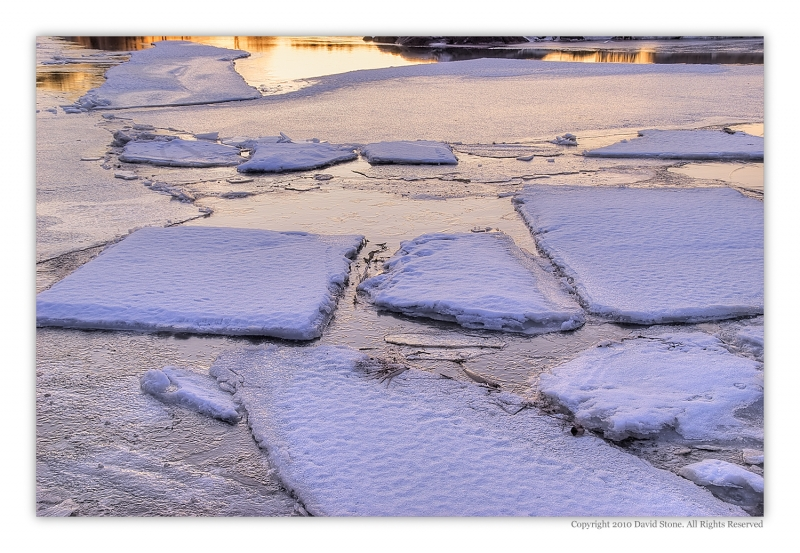River Ice At Sunrise