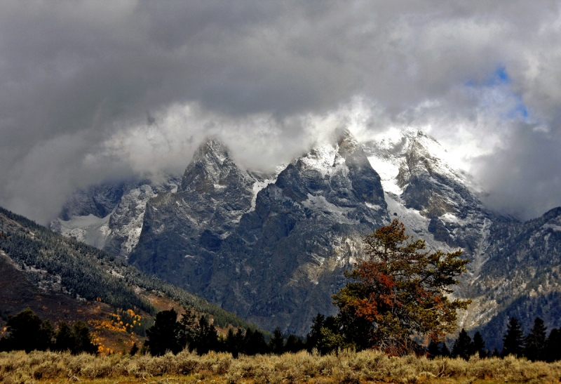 A Fall Storm In The Tetons