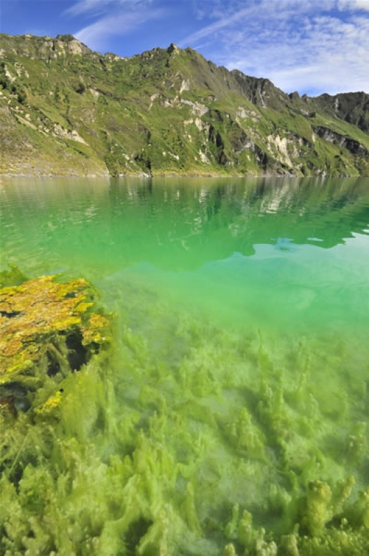 Quilotoa Active Crater Lake