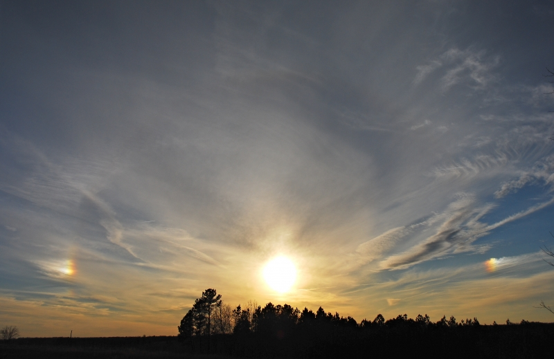 Parhelion Arc And 2 Sundogs