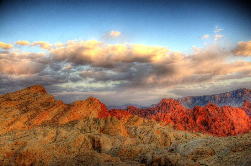 Sunset Over Red Rock Canyon