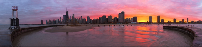 Chicago Hurricane Sandy Halloween Sunset