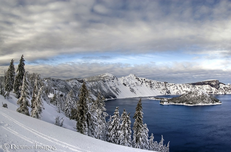 Skiing Along The Rim, Crater Lake National Park