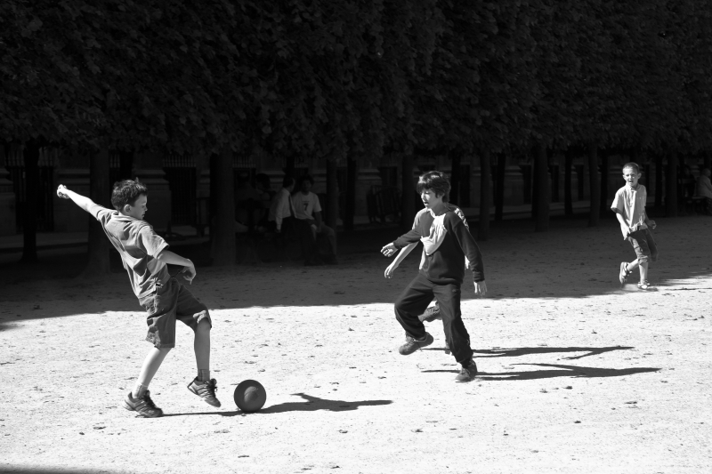 Soccer In The Garden Of The Palais Royal In Paris France